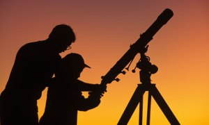 Using a telescope